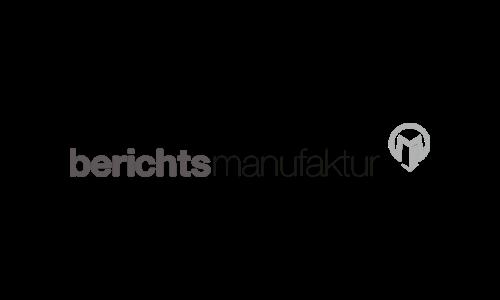 Logo - Berichtsmanufaktur
